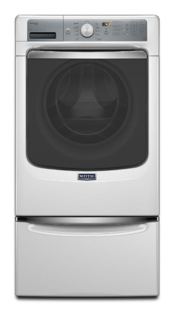 Maxima 5.2 cu. ft. Front Load Steam Washer with Overnight Wash and Dry Cycle in White