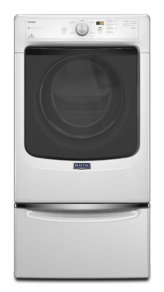 7.3 cu. ft. Maxima High Efficiency Dryer with Large Capacity and Advanced Moisture Sensing in White