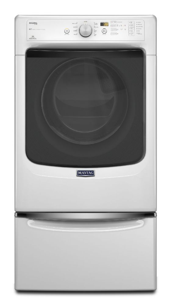 Maxima 7.3 cu. ft. Electric Dryer with Refresh Cycle with Steam in White