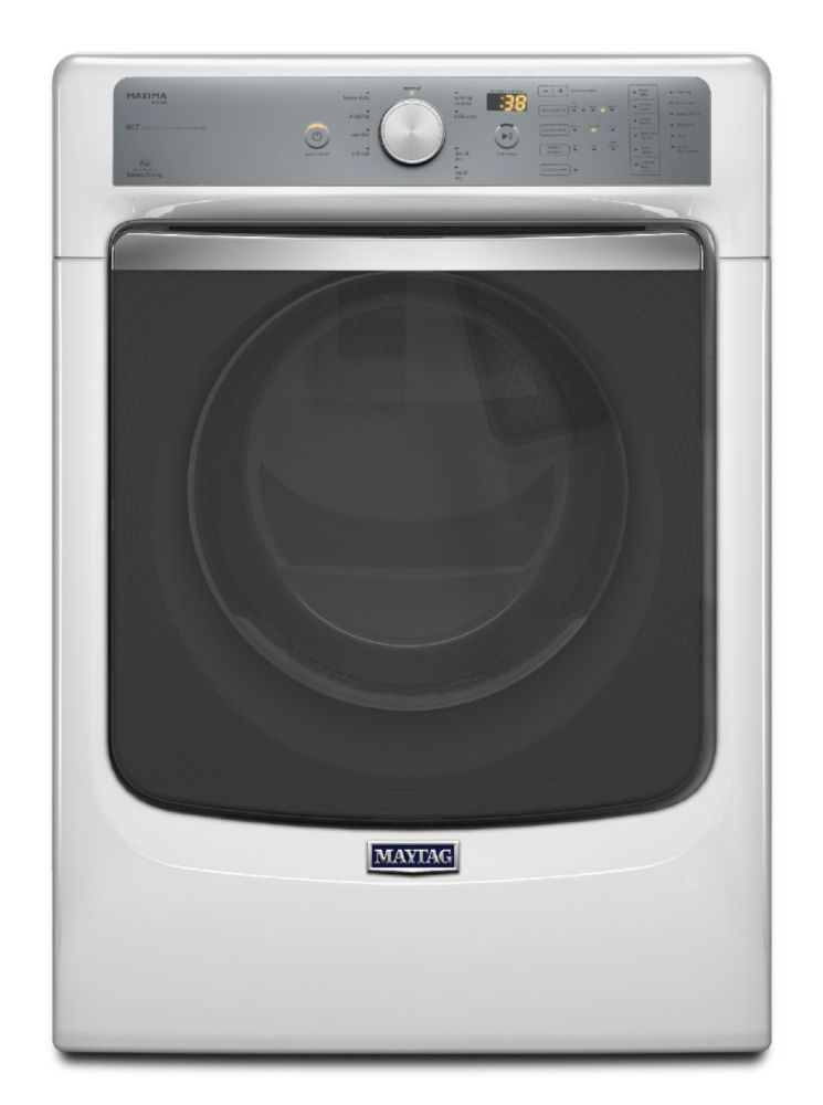 Maxima 7.3 cu. ft. Electric Dryer with Large Capacity and Stainless Steel Drum in White