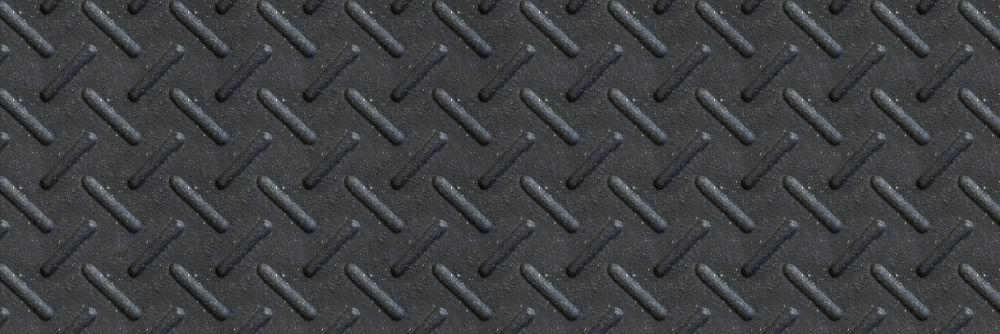 """Couvre-Marche Noir 12""""X36"""" À Usage Intensif"""