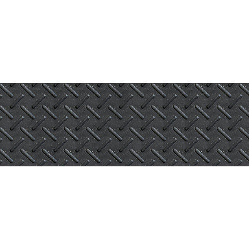 10-inch x 36-inch Heavy Duty Rubber Stair Tread in Black