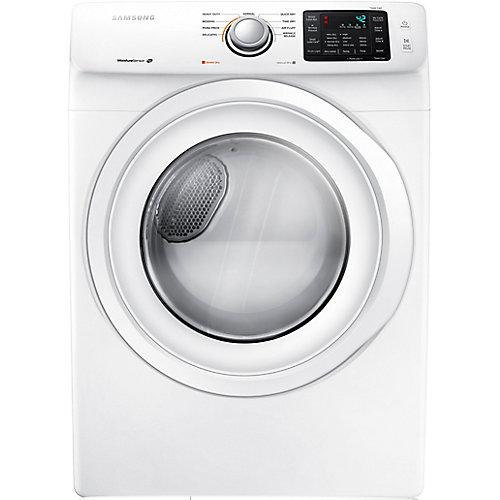 Séchoir électrique à chargement frontal de 7,5 pi3 en blanc