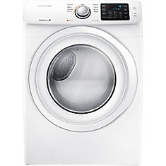 7.5 cu. ft. Front-Load Electric Dryer in White