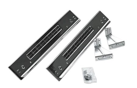 30-inch Stacking Kit for Front Load Washer and Dryer in Chrome