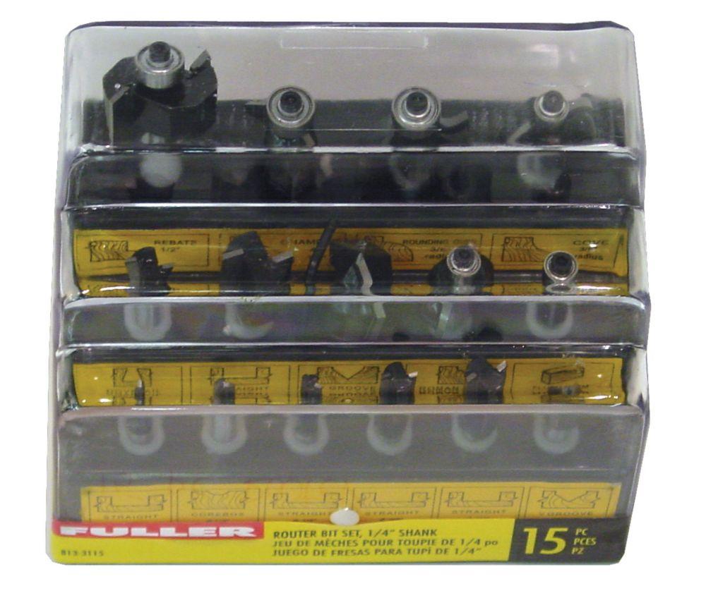15-Piece Router Bit Set
