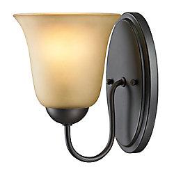 Titan Lighting Applique de salle de bain à 1ampoule ou DEL au fini bronze huilé