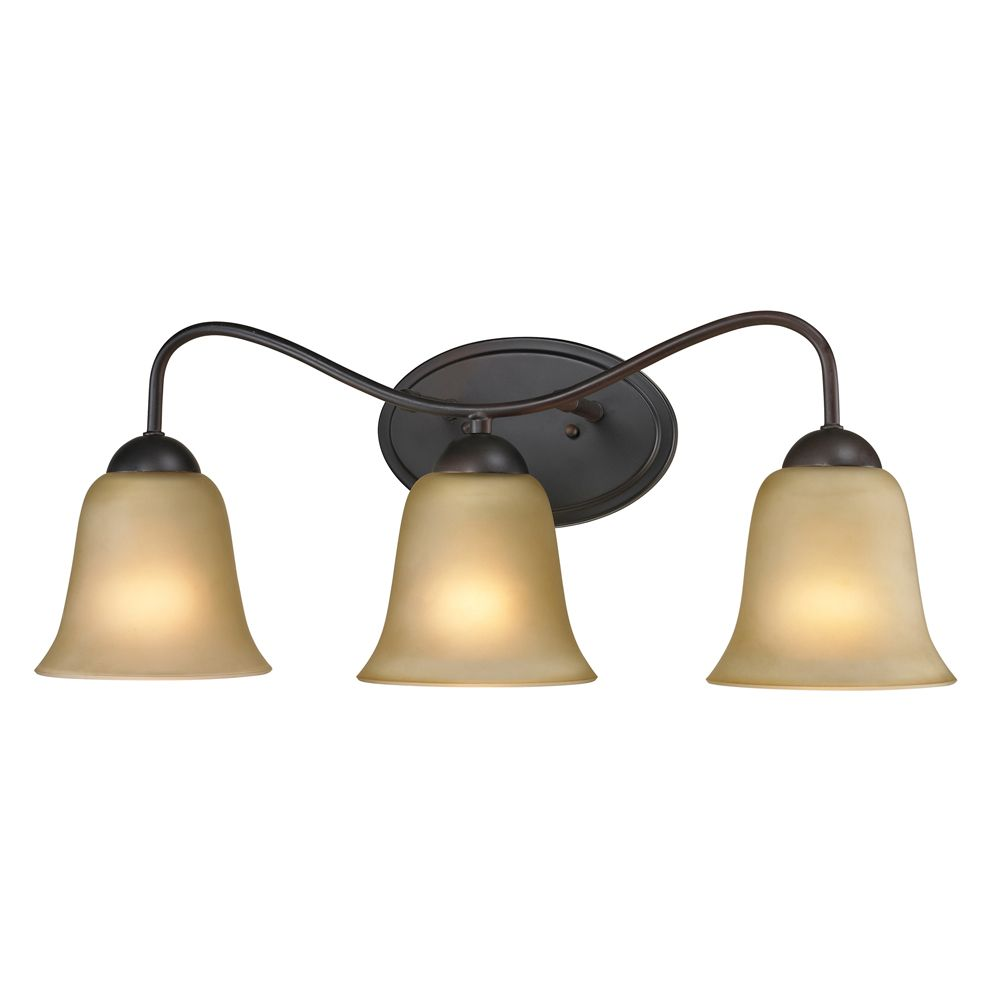 Conway 3-Light Oiled Rubbed Bronze Bath Light