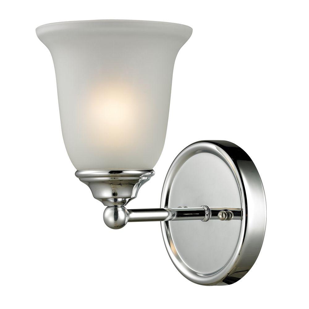 Titan Lighting 1 Light Bath Bar In Chrome With Led Option