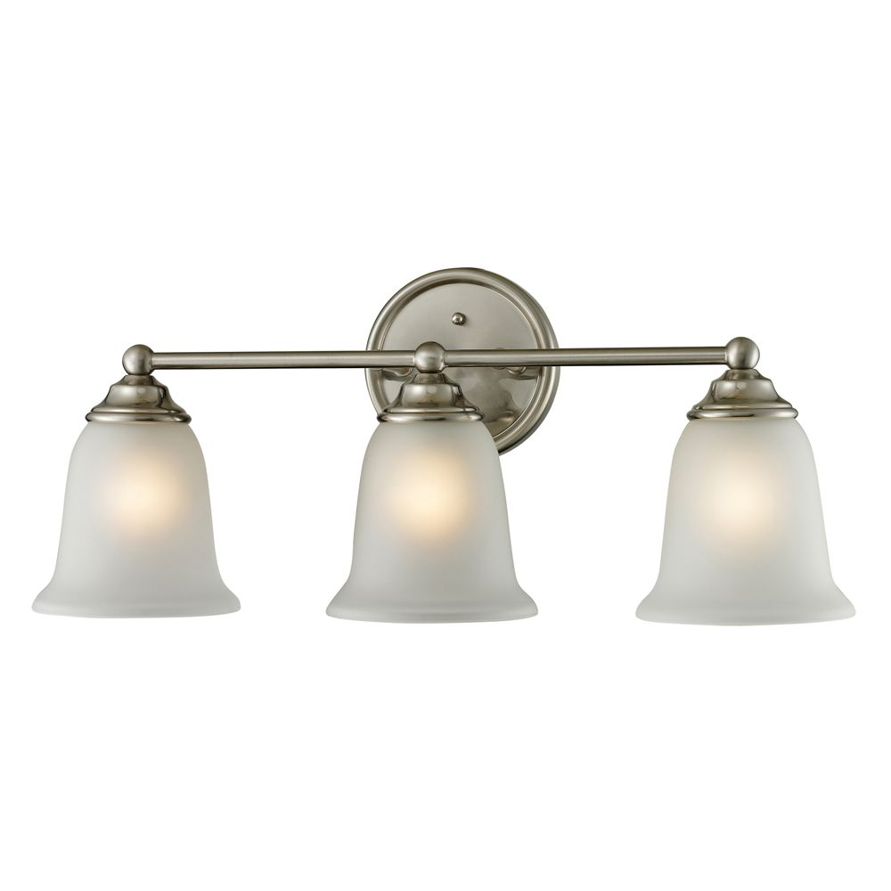 Titan Lighting 3 Light Bath Bar In Brushed Nickel The Home Depot Canada