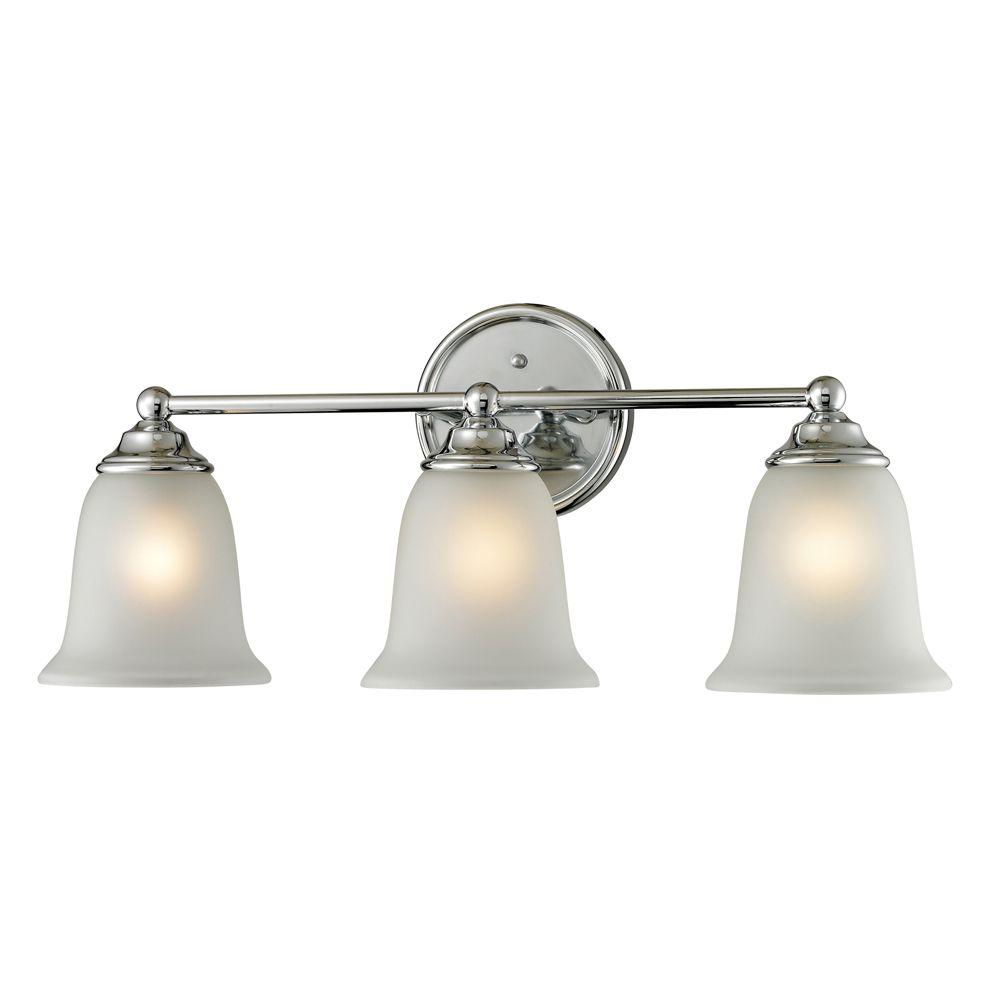 Titan lighting applique de salle de bain 3 ampoules au for Ampoule applique salle de bain