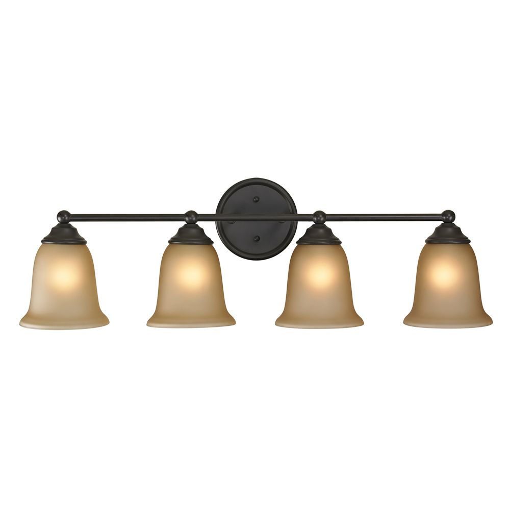 4 Light Bath Bar In Oil Rubbed Bronze