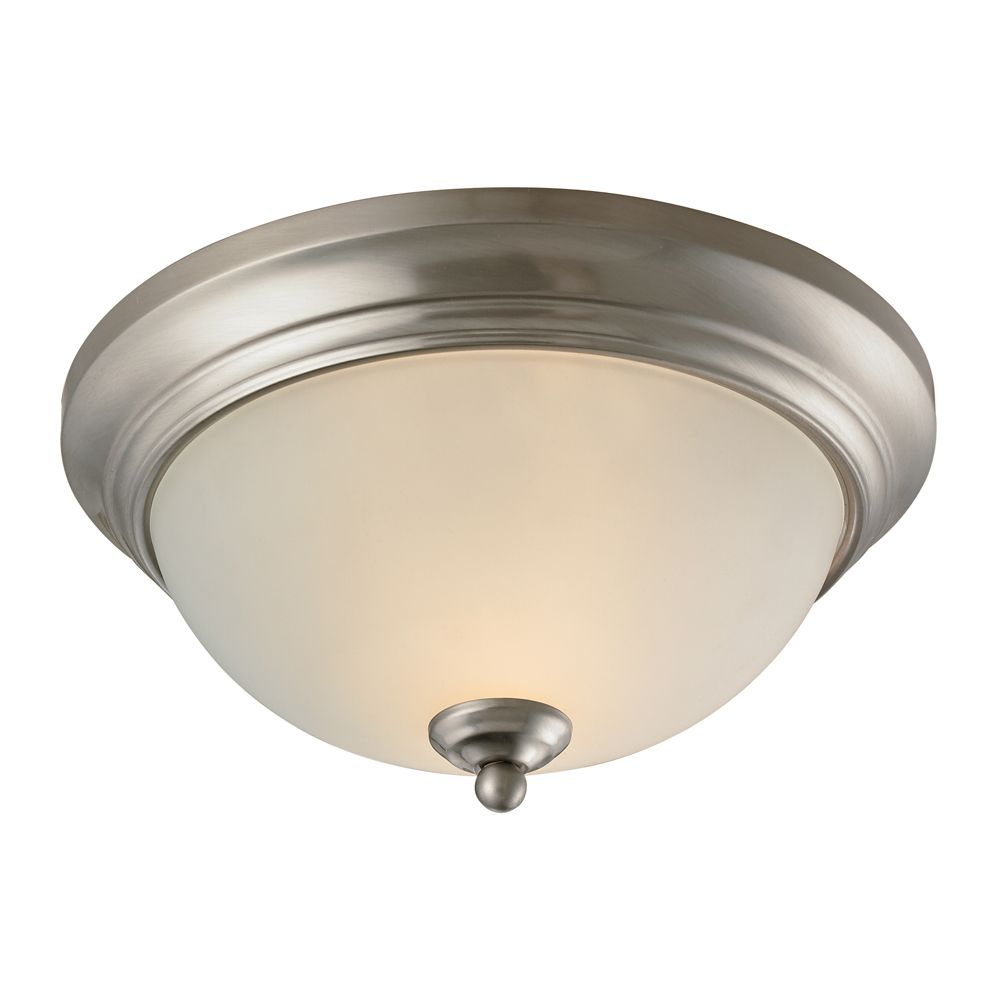 2 Light Flush Mount In Brushed Nickel With Led Option