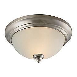 Titan Lighting Plafonnier à 2ampoules ou DEL au fini nickel brossé