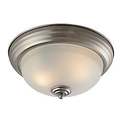 Titan Lighting 2 Light Flush Mount In Brushed Nickel With Led Option