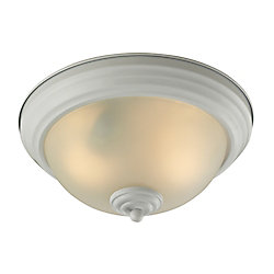 Titan Lighting 2 Light Flush Mount In White With Led Option