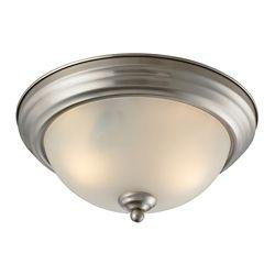 Titan Lighting Plafonnier à 3ampoules ou DEL au fini nickel brossé