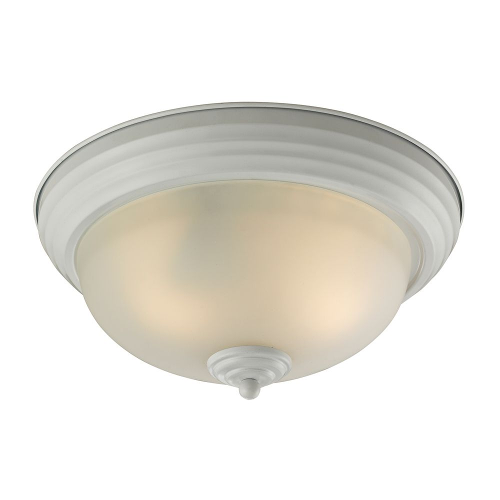 Titan Lighting 3 Light Flush Mount In White With Led Option