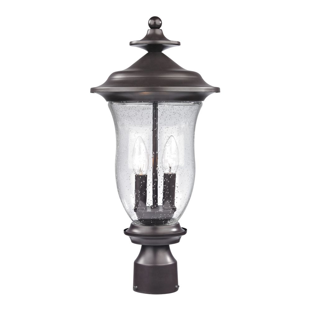 Outdoor Post Lamp In Oil Rubbed Bronze