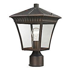 Outdoor Post Lamp In Hazelnut Bronze