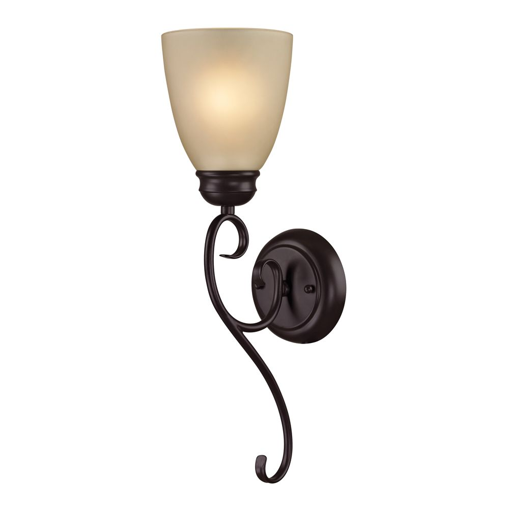 1 Light Wall Sconce In Oil Rubbed Bronze With Led Option