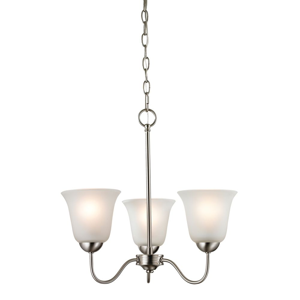 3 Light Chandelier In Brushed Nickel