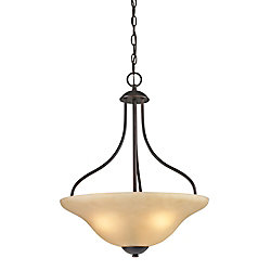 Titan Lighting 3 Light Pendant In Oiled Rubbed Bronze