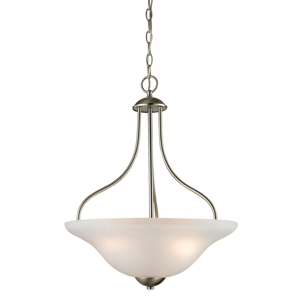titan lighting luminaire suspendu 3 ampoules au fini nickel bross the home depot canada. Black Bedroom Furniture Sets. Home Design Ideas