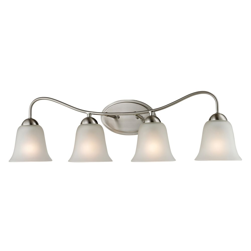 Titan Lighting 4 Light Bath Bar In Brushed Nickel With Led Option
