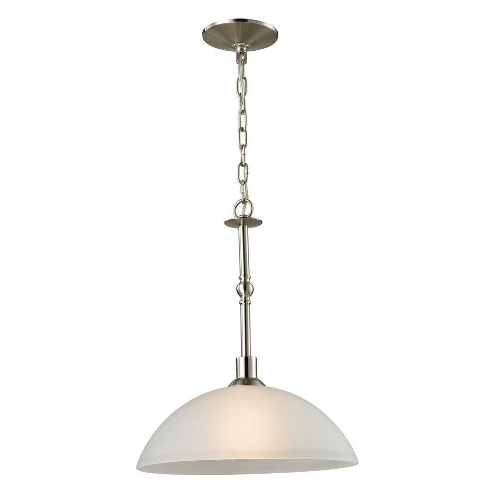 1 Light Pendant In Brushed Nickel With Led Option