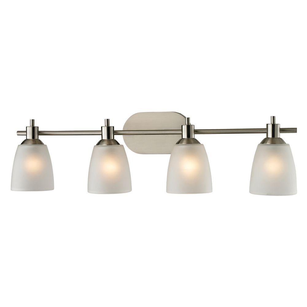 Jackson 4-Light Brushed Nickel Bath Light