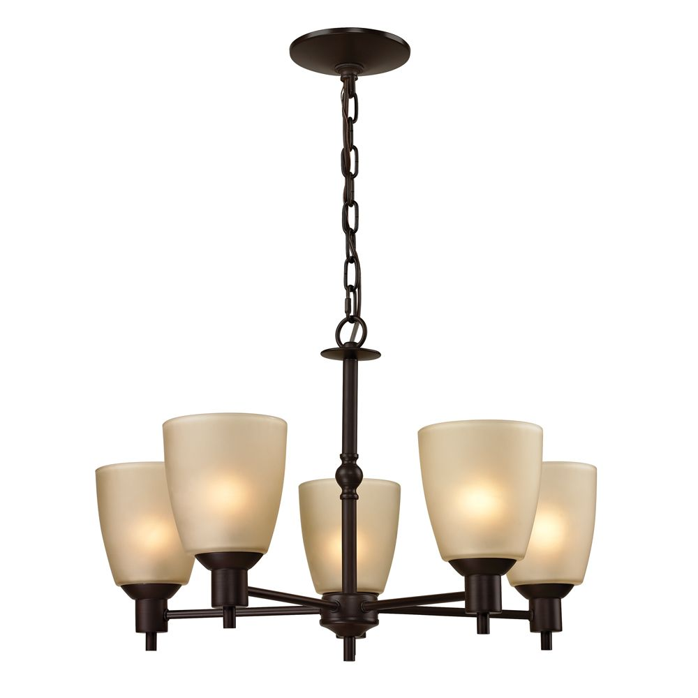 5 Light Chandelier In Oil Rubbed Bronze With Led Option