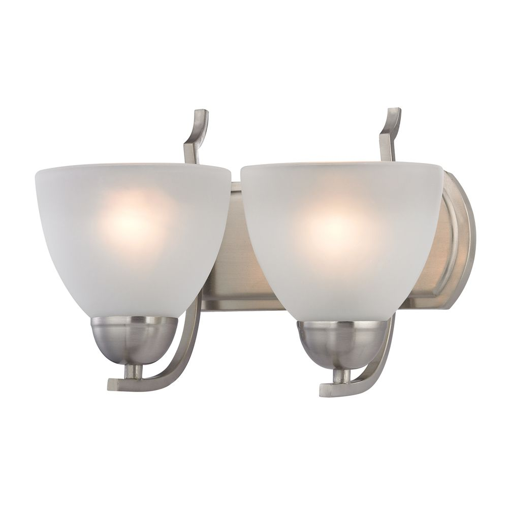 2 Light Bath Bar In Brushed Nickel With Led Option TN-95053 Canada Discount