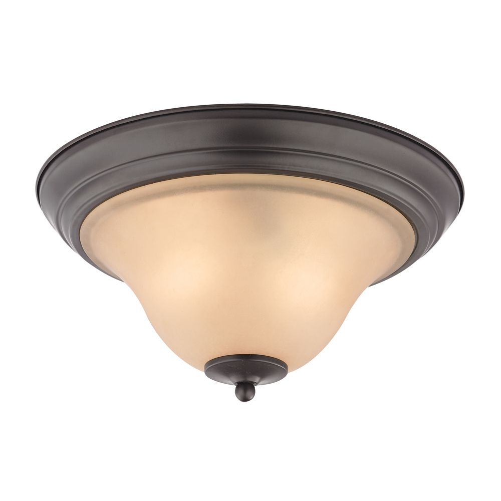 2 Light Flush Mount In Oil Rubbed Bronze With Led Option