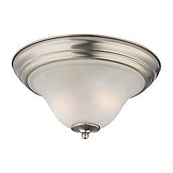 Titan Lighting 2 Light Flush Mount In Brushed Nickel