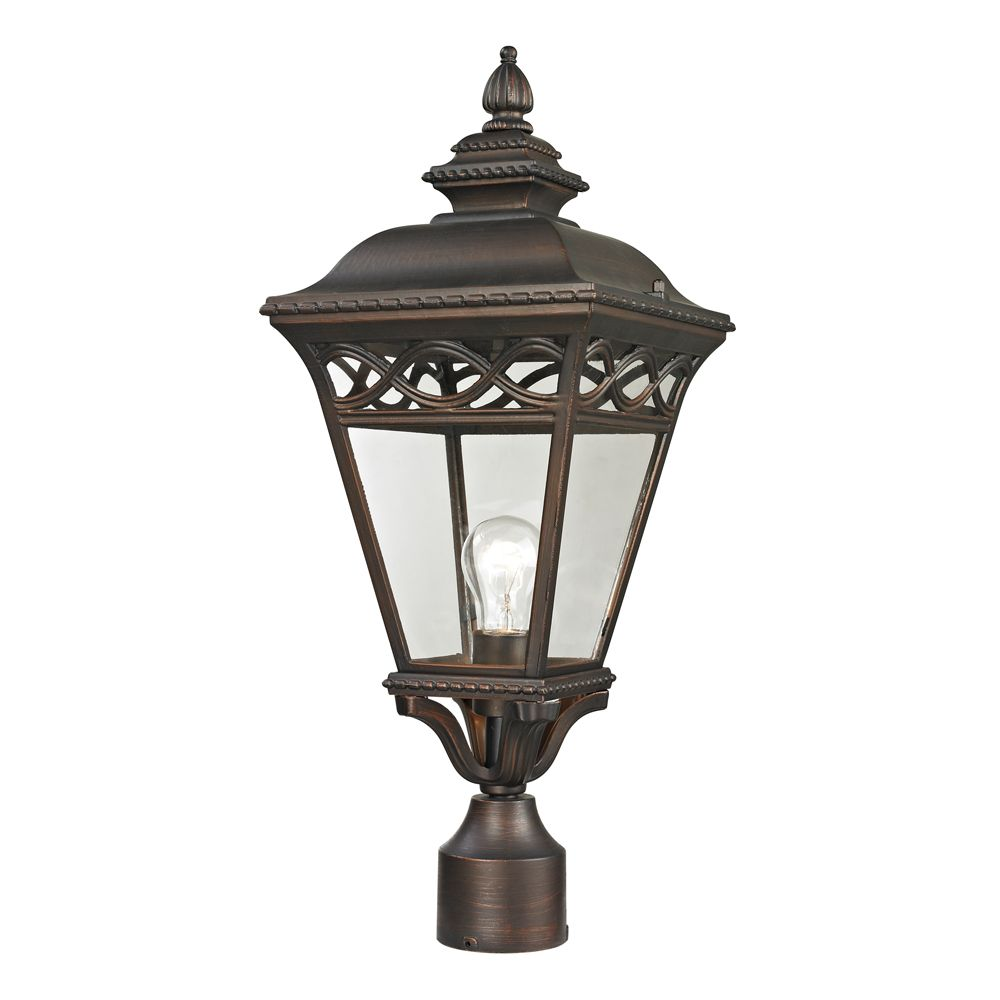 Outdoor Post Lamp In Hazelnut Bronze