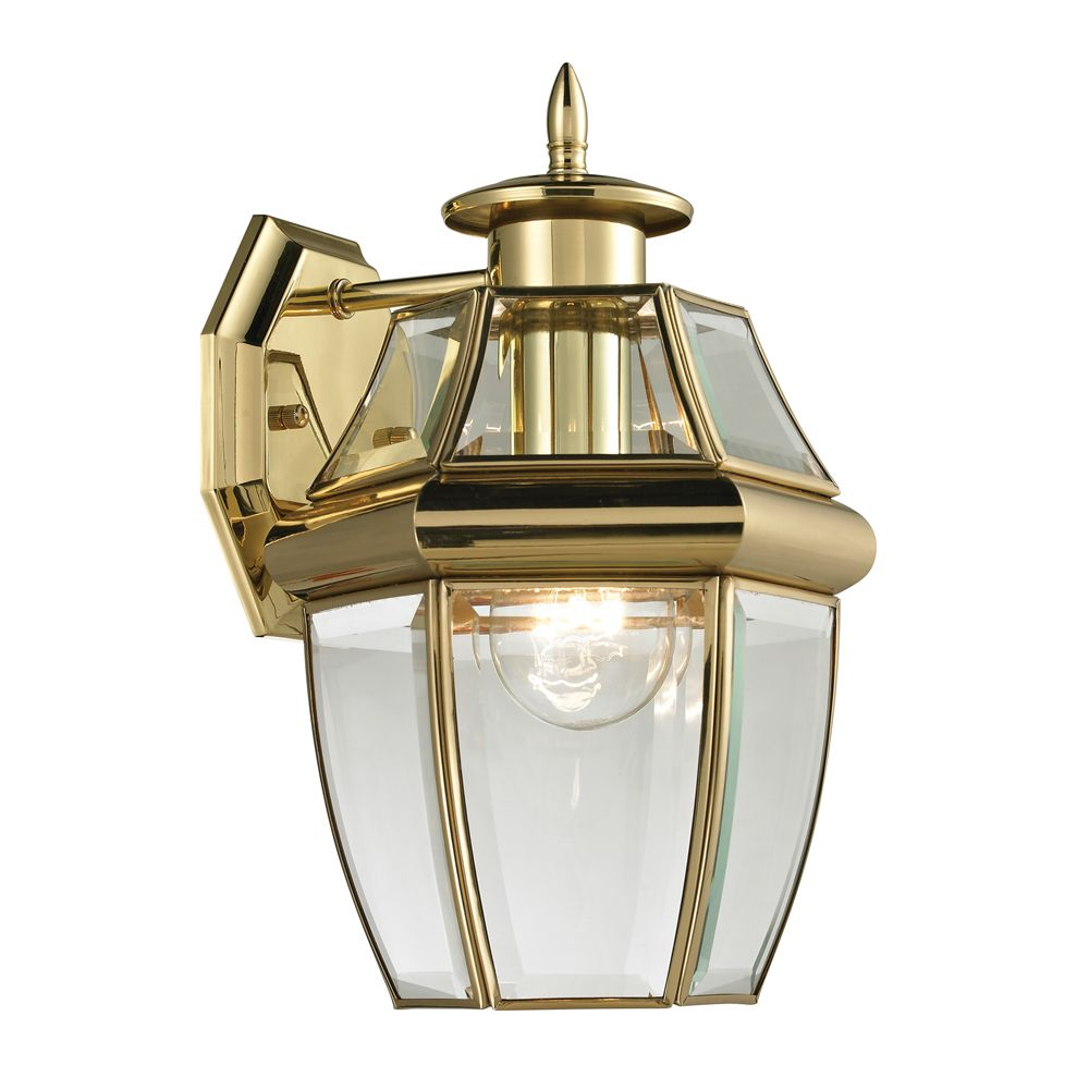Outdoor Sconce In Antique Brass