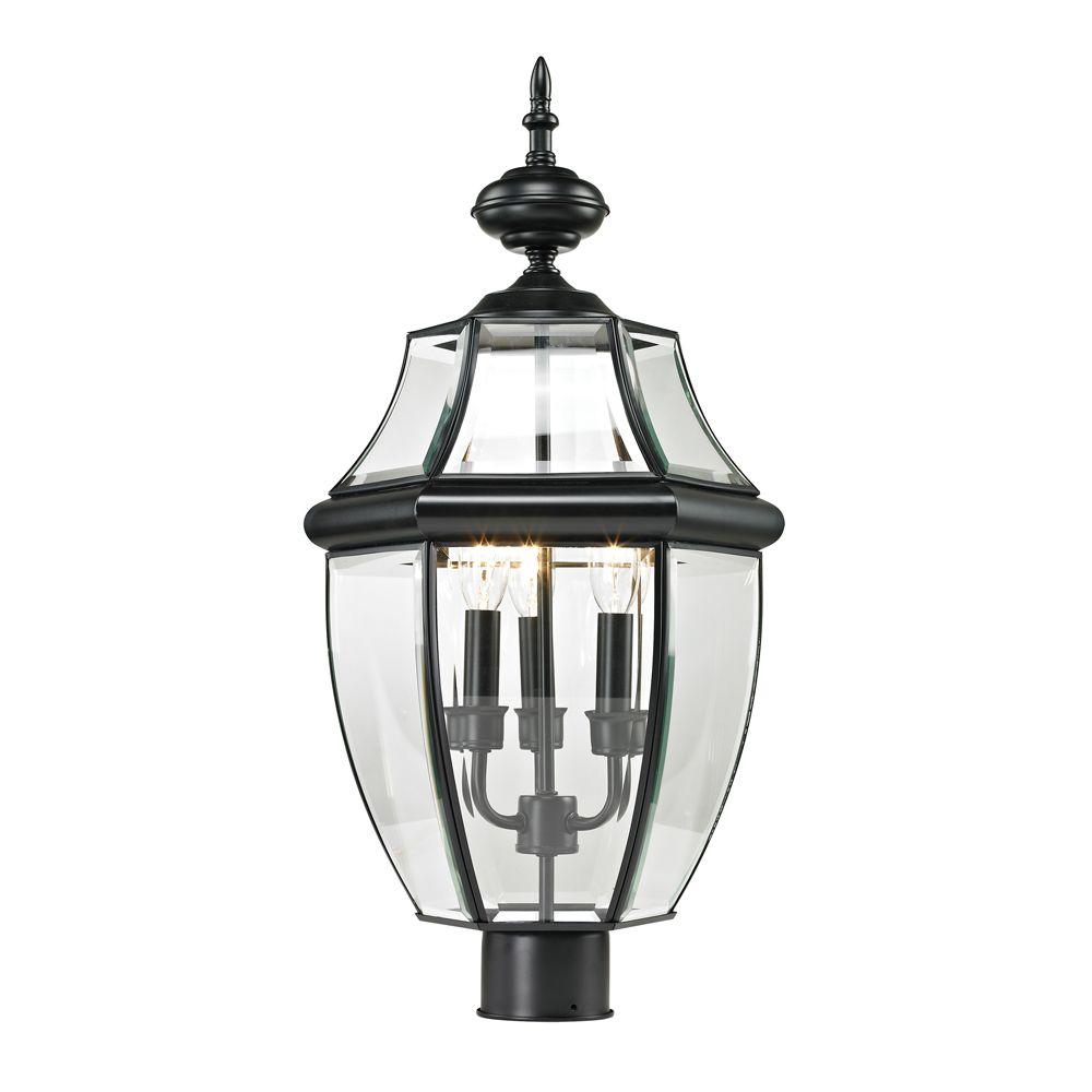 Outdoor Post Lamp In Black TN-50222 in Canada
