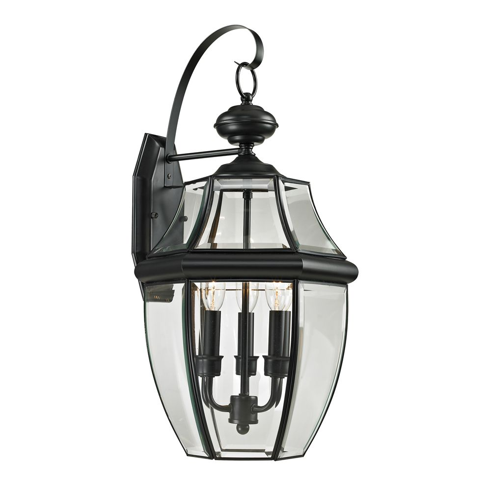 Titan lighting outdoor sconce in black the home depot canada for Exterior light sconce