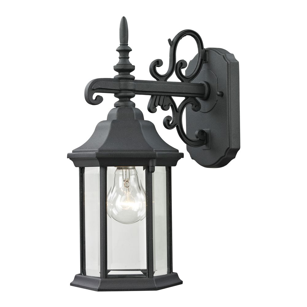Outdoor Sconce In Matte Textured Black