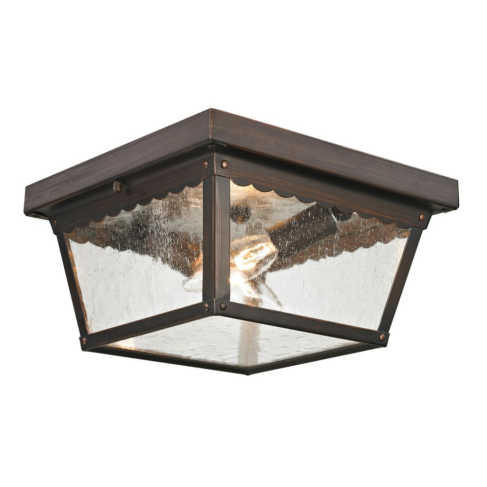 Titan lighting plafonnier ext rieur au fini bronze for Plafonnier exterieur
