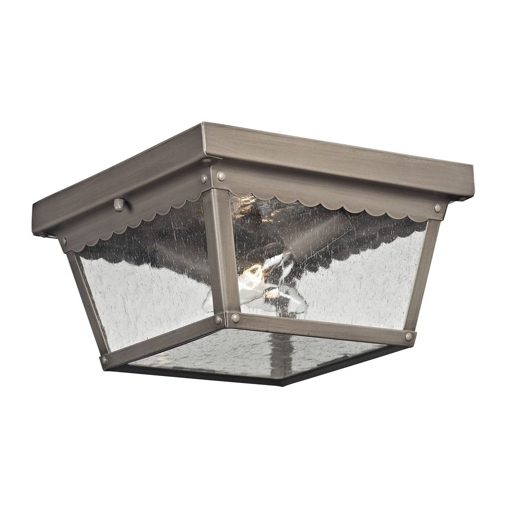 Outdoor Flush Mount In Antique Nickel