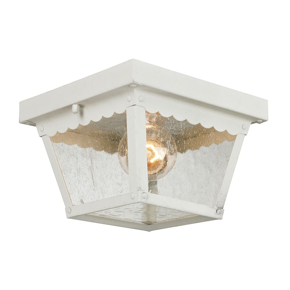 Outdoor Flush Mount In White