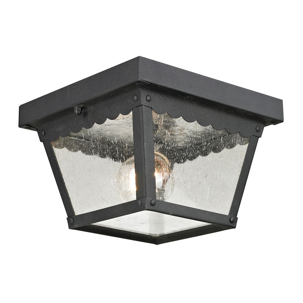 Outdoor Flush Mount In Matte Textured Black