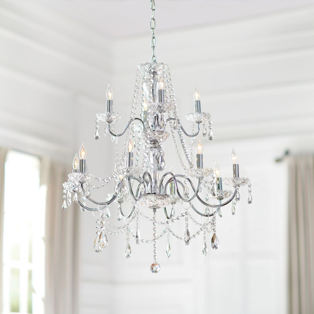 Caventi Collection 12 Light Chrome Chandelier