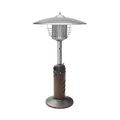 11,000 BTU Powder Coated Bronze Tabletop Propane Patio Heater