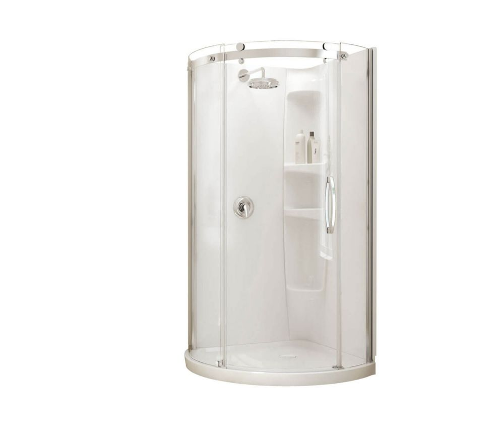 Maax Olympia 40inch Round Shower Stall  The Home Depot. Garage Floor Epoxy Contractors. Garage Door Repair Az. Sliding Glass Door With Blinds. Garage Door Seal Bottom. Garage Safety. Milton Garage Door Repair. Rv Windows And Doors. Garage Storage System