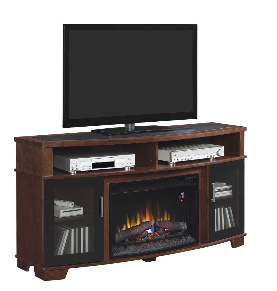 Home decorators collection avoca 25inchcurved fireplace for Home depot home decorators
