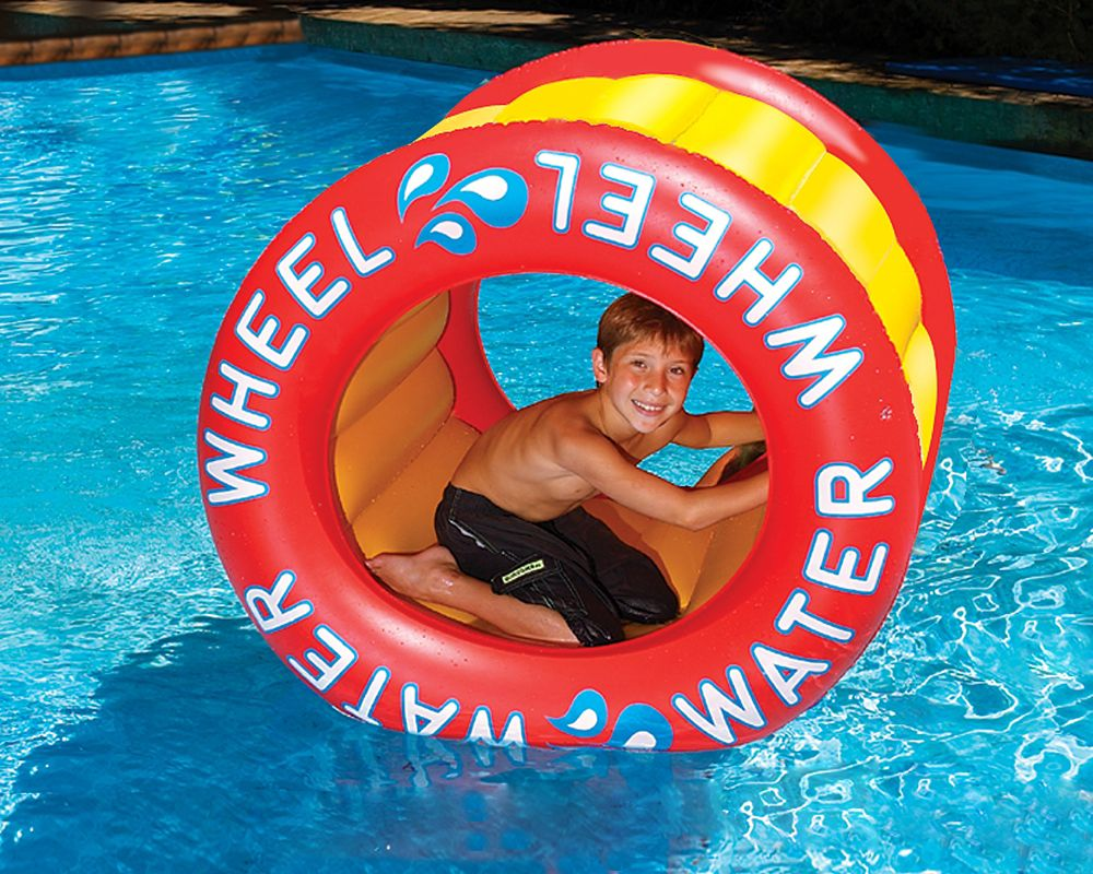 Roue à eau gonflable pour piscine