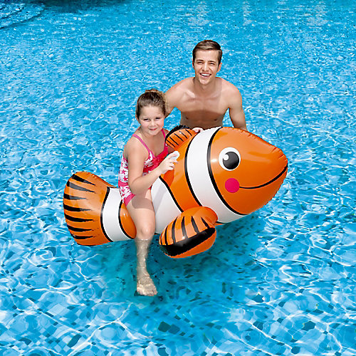 Clown Fish 67-inch Inflatable Ride-On Pool Toy
